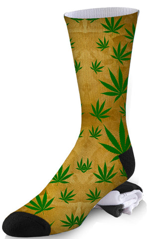 Smoker's Delight Gold Leaf Socks