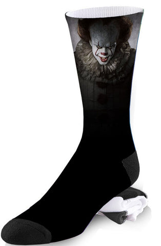 "We All Float Down Here Creepy Pennywise ""IT"" Inspired Socks"