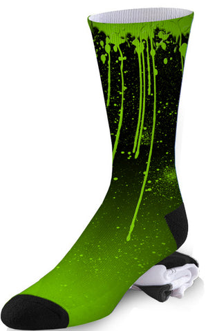 Spray Paint Nuclear Zombie Ooze Socks