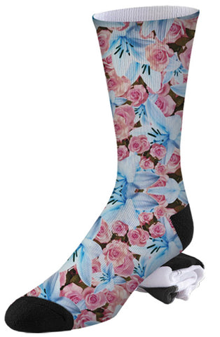 Lilly and Rose Soft Floral Socks