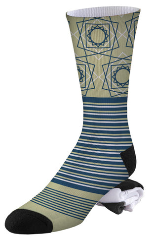 Spirograph and Stripe Pro Series Socks