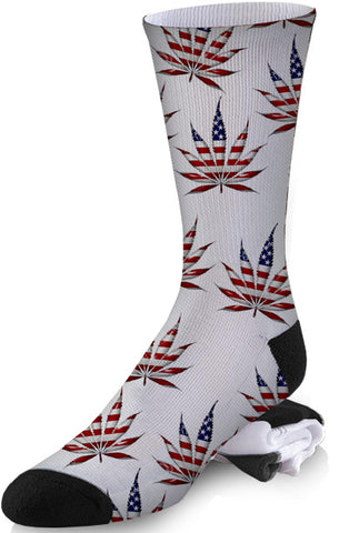 Americjuana White Background Socks
