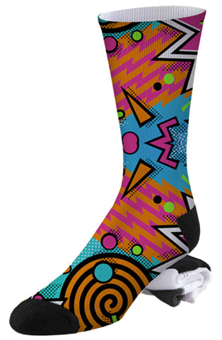 90's Totally Awesome Super Sweet Multi-print Socks