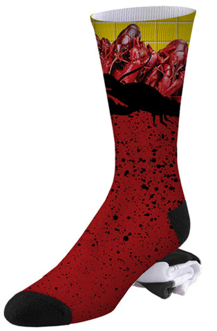 Shelfish and Splatters Lobster Socks