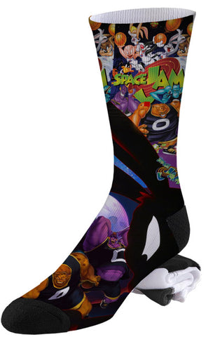 Retro Warner Brothers Looney Tunes Classic Space Jam Socks
