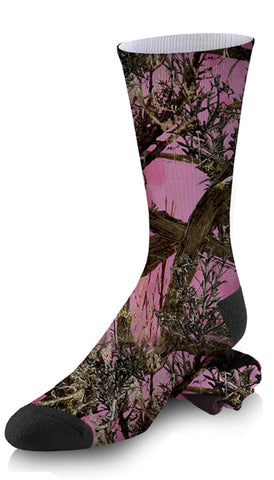 Winter Camouflage Snow and Brush Custom Hunting Socks