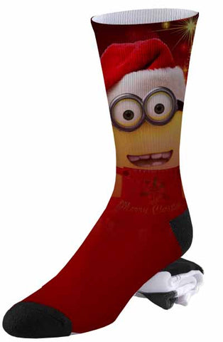 A Very Merry Minions Santa Christmas Holiday Sock