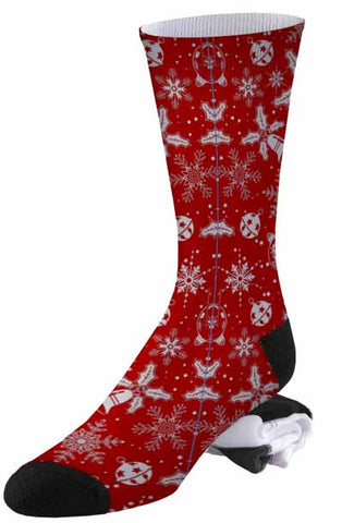 Christmas Wrapping Paper Print Socks