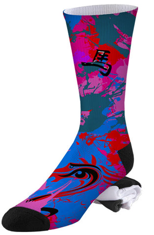 Nike Inspired Air Jordan Chinese Year of the Horse Socks