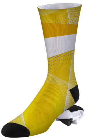Nike Air Jordan Sports Sneaker Inspired Yellow Jacket Socks