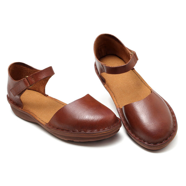 Handmade leather soft bottom shoes S50