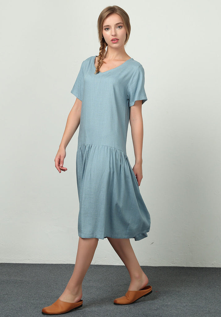 Custom made Oversize Linen Cotton kaftan Dress B06b