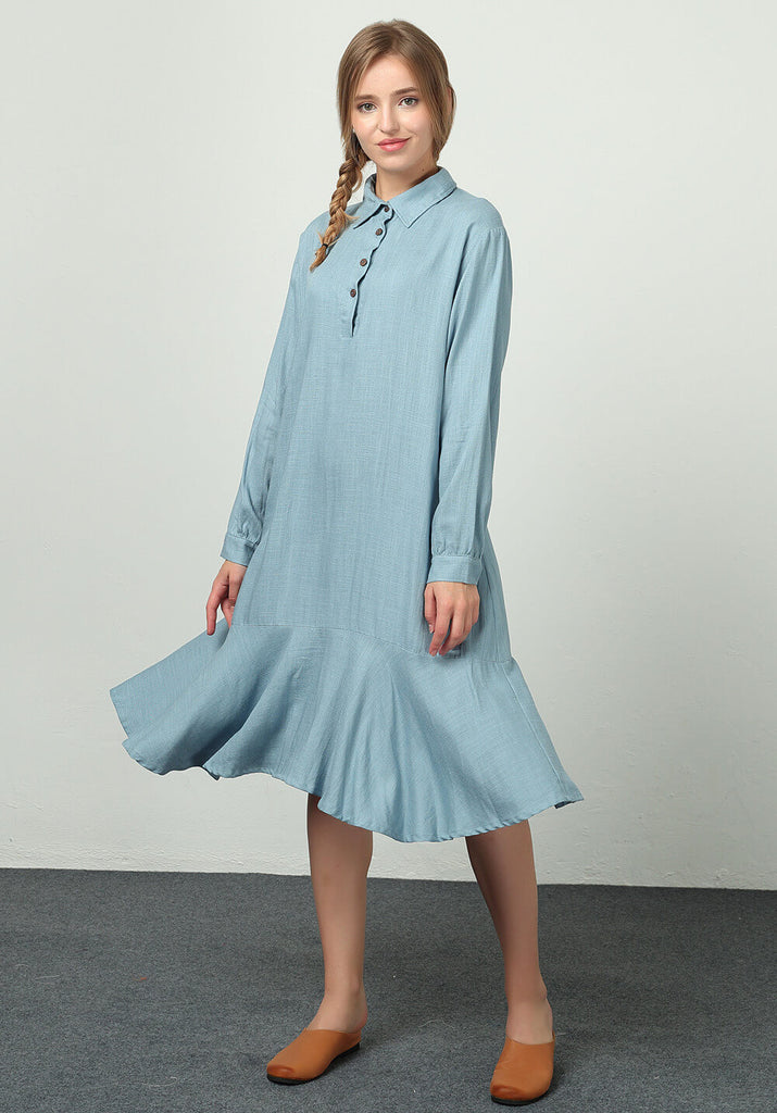 Linen Cotton Plus Large Clothing Custom made dress B59