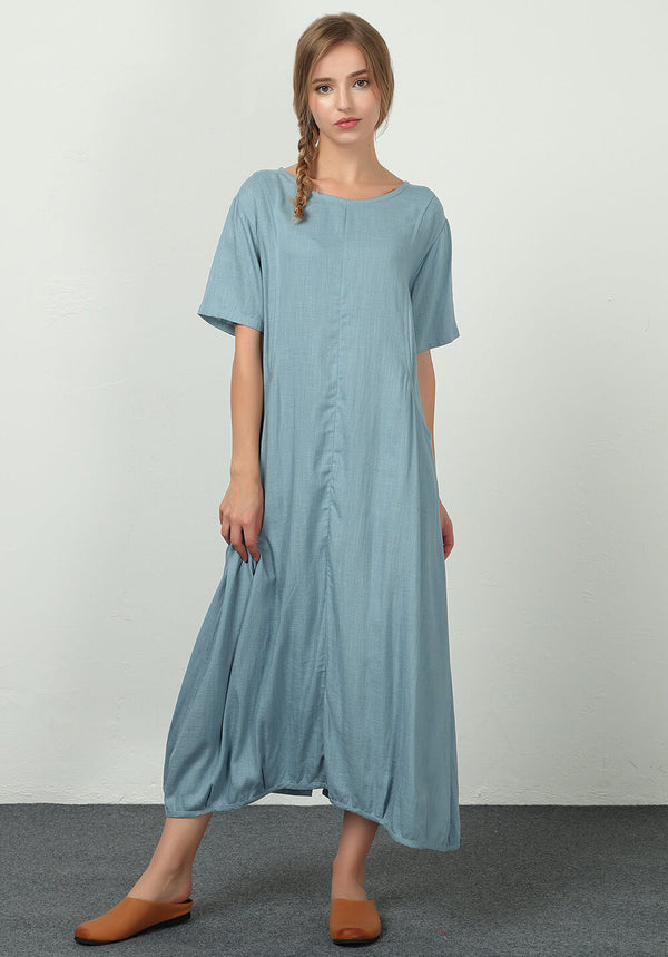 Oversize Linen Cotton clothing custom made dress A35b