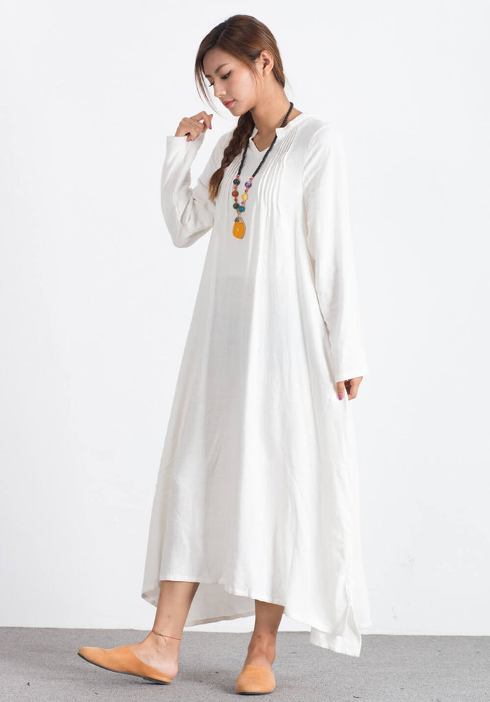 Oversize Linen Cotton Kaftan custom made dress A114