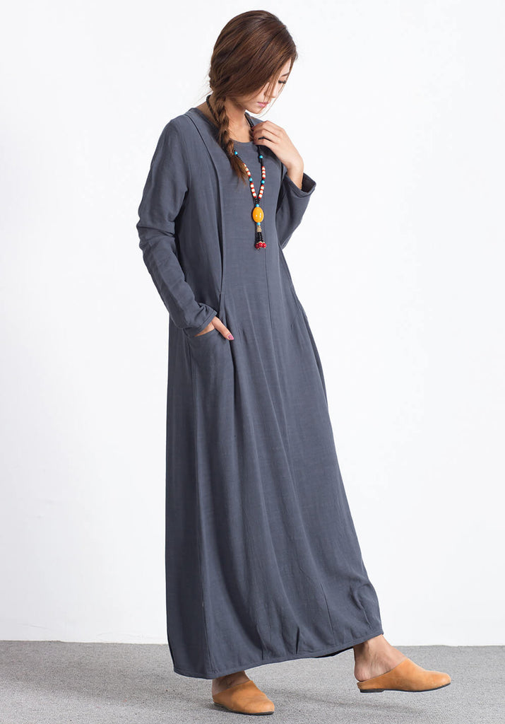 Oversize Linen Cotton Custom made dress A35