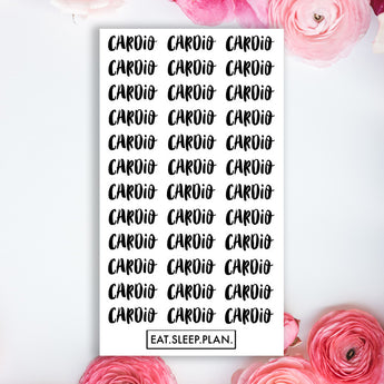CARDIO Planner Stickers