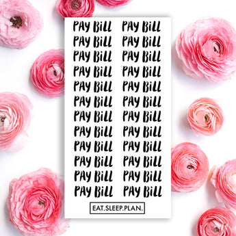 PAY BILL Planner Stickers