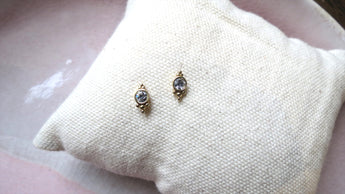 Ornate Gold + Crystal Studs