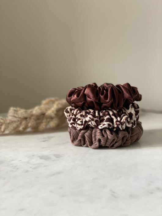 Cocoa Mini Scrunchie Set