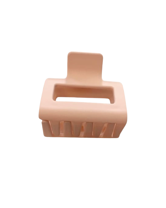 Mini Pink Rectangular Claw Clip