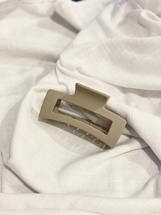 Khaki Rectangle Clip