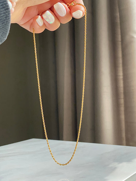 Catena Twist Gold Necklace