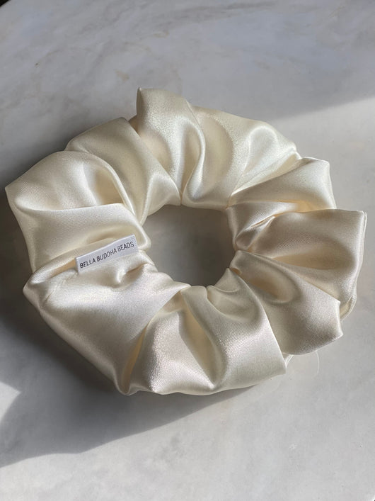 Latte Silk Scrunchie