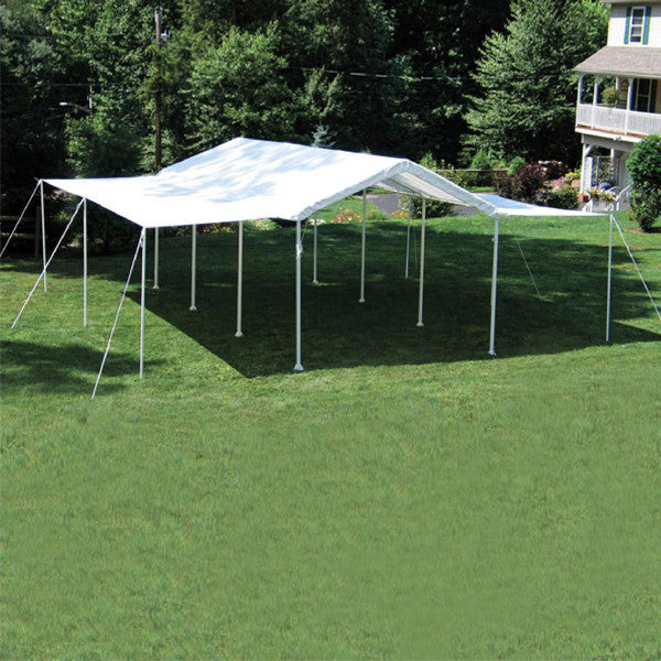 "10×20 White Canopy Extension Kit, Fits 1-3/8"" and 2"" Frame - Extension Kit - Shop Patios"