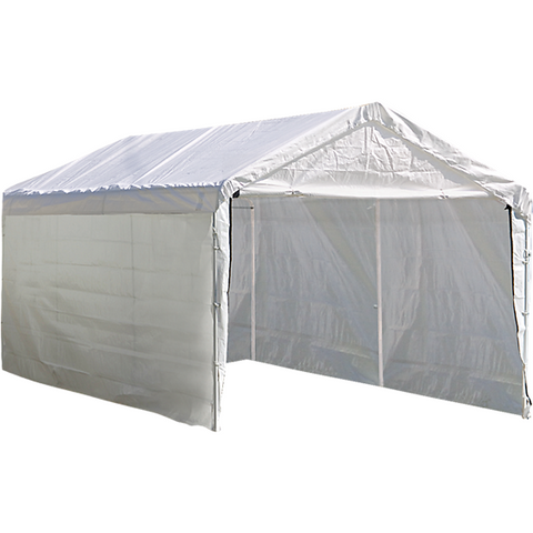 "10×20 White Canopy Enclosure Kit, Fits 2"" Frame - Canopy - Shop Patios"