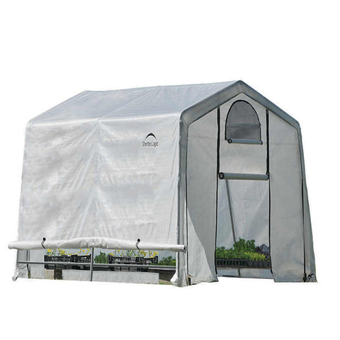 10x10x8 ft. / 3x3x2,4 m (3) Rib Peak Style Grow It Greenhouse-in-a-Box; Translucent Cover w/Side Vents; (1) 2-Zipper Door w/Screened Window; (1) Back Panel w/Screened Window - Greenhouse - Shop Patios