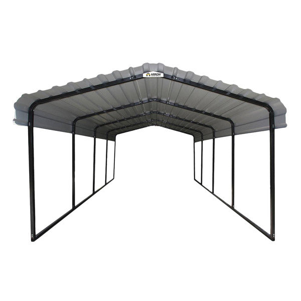 Arrow® Carport, 12x20x7, 29 Gauge Galvanized Steel Roof Panels, 2 in ...