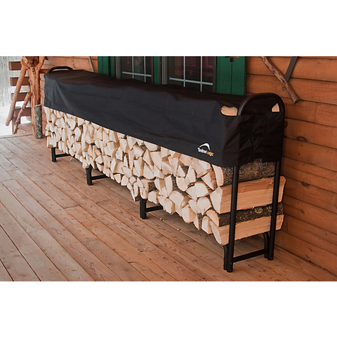 12 ft. / 3,7 m Heavy Duty Firewood Rack w/Cover - Firewood Rack - Shop Patios