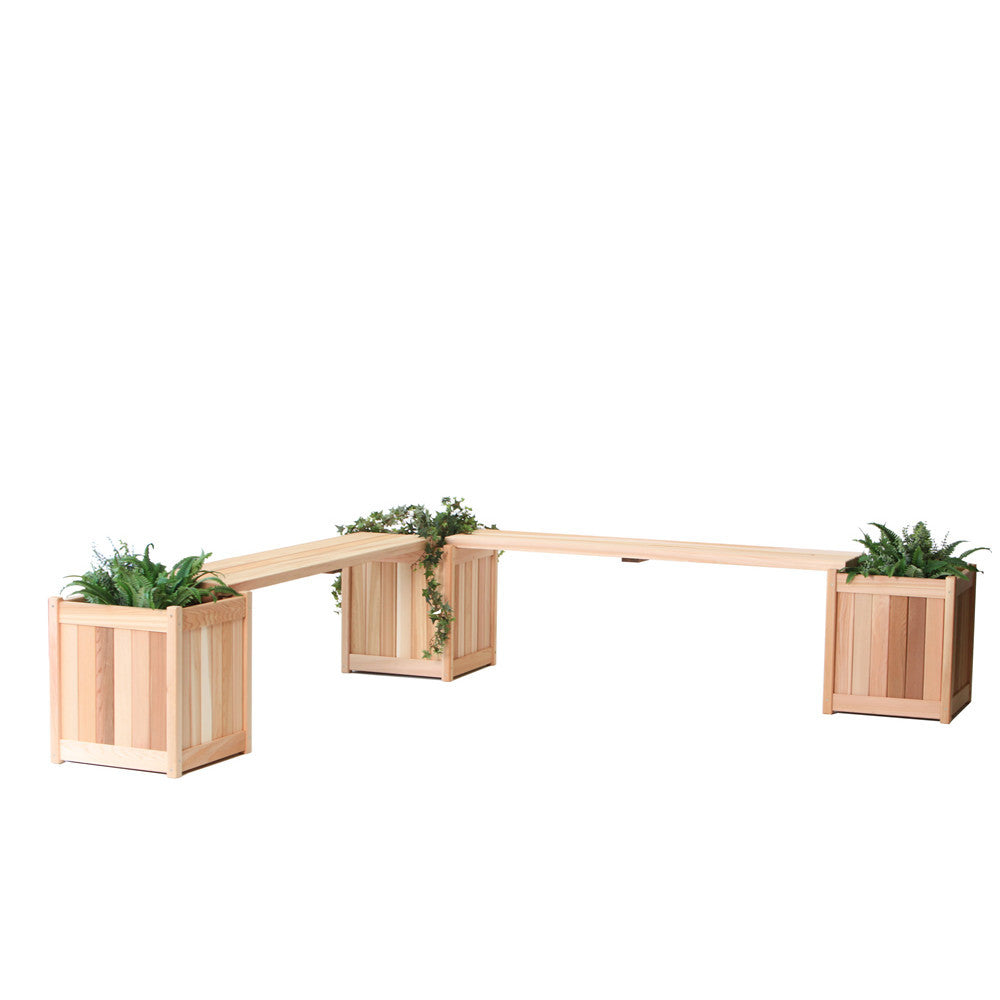 All Things Cedar 5 Piece Planter with Benches - bench - Shop Patios
