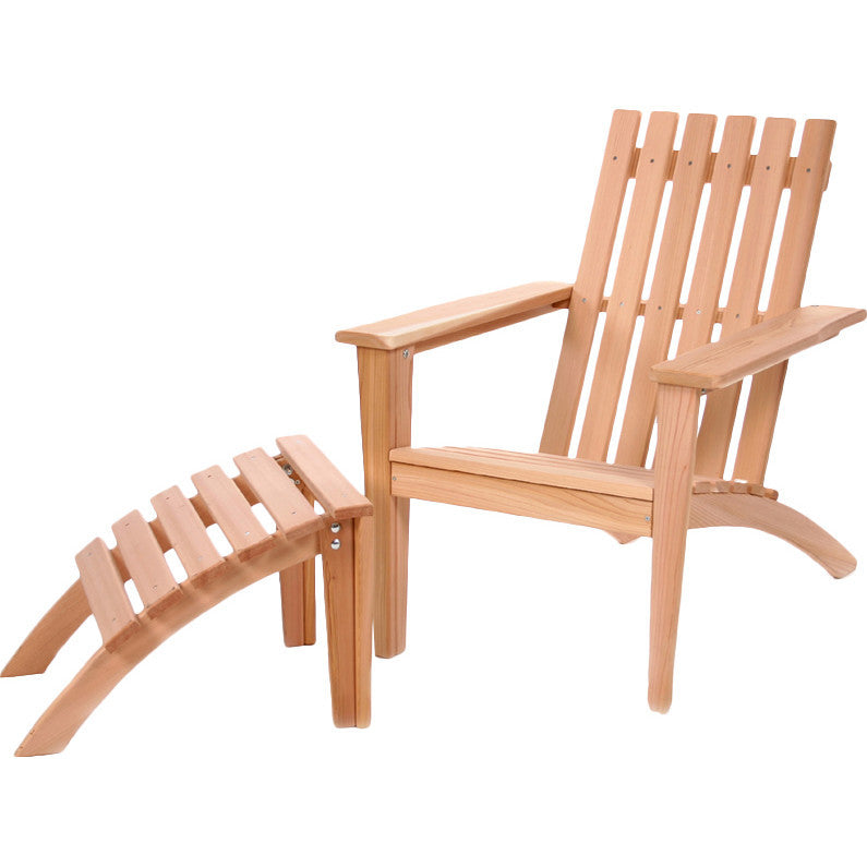 All Things Cedar Adirondack Easybac Chair with Ottoman Set - Adirondack Chairs - Shop Patios