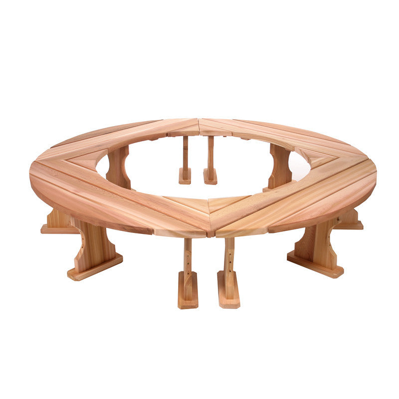All Things Cedar Round Wood Tree Bench - outdoor bench - Shop Patios