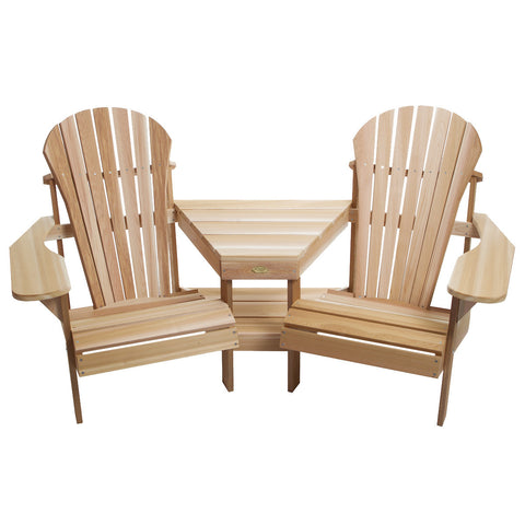 All Things Cedar Corner Tete-a-Tete Adirondack Seat - outdoor bench - Shop Patios