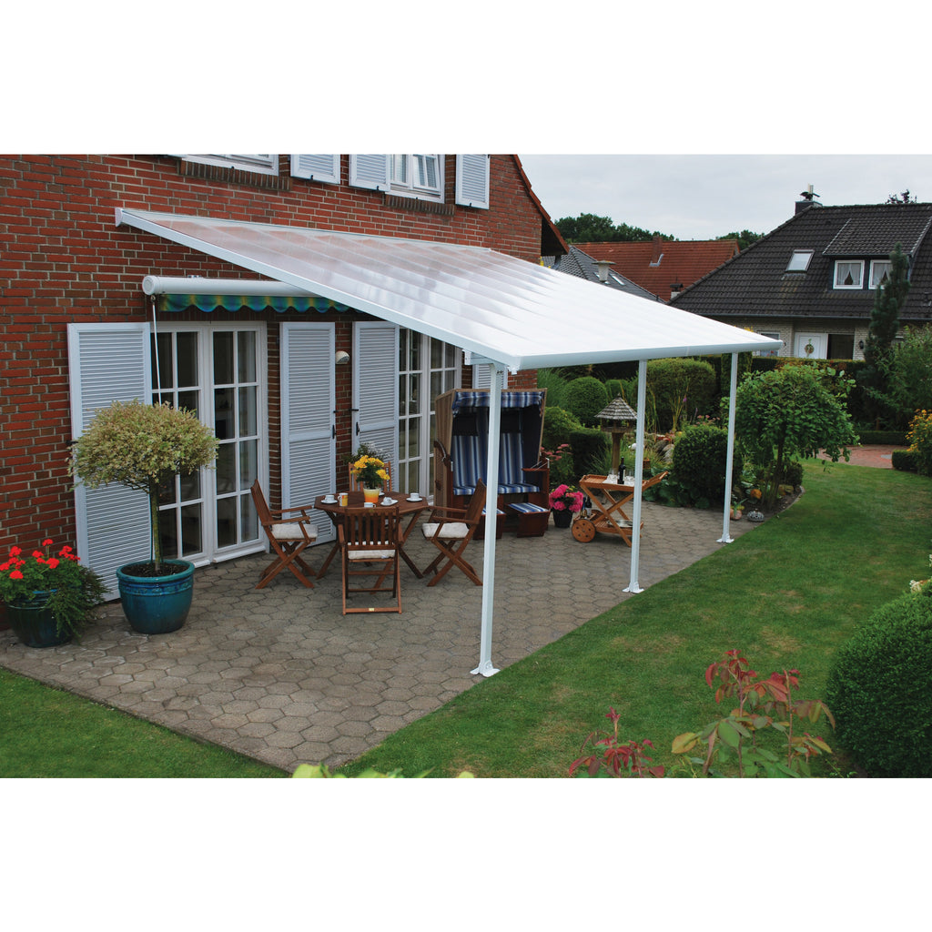 aquila free overstock home solar aluminum today polycarbonate shipping product garden grey palram awning