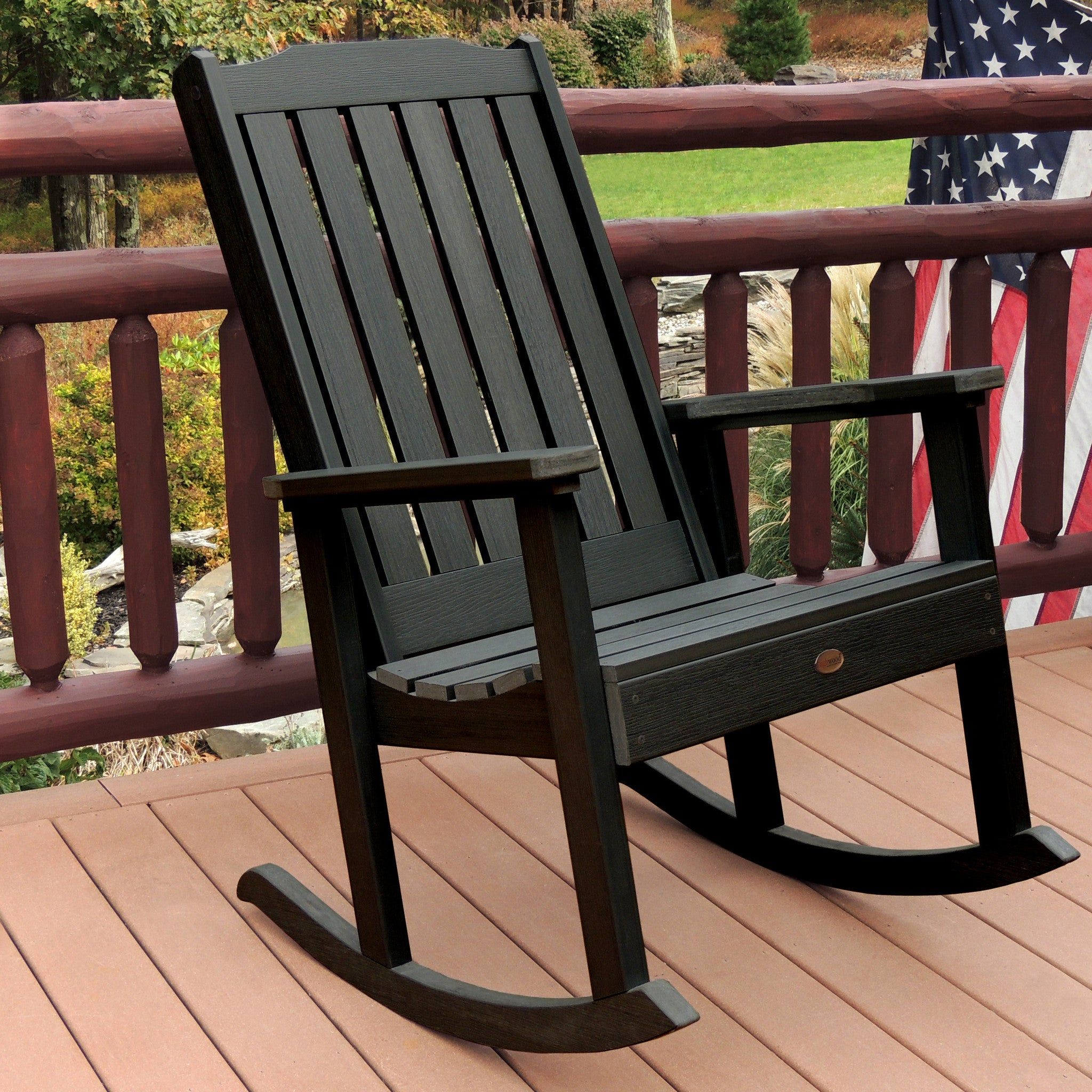 Highwood USA Lehigh Outdoor Rocking Chair   Rocking Chair   Shop Patios ...