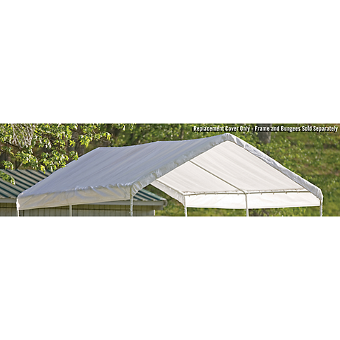 "10×20 White Canopy Replacement Cover, Fits 1-3/8"" Frame - Canopy - Shop Patios"