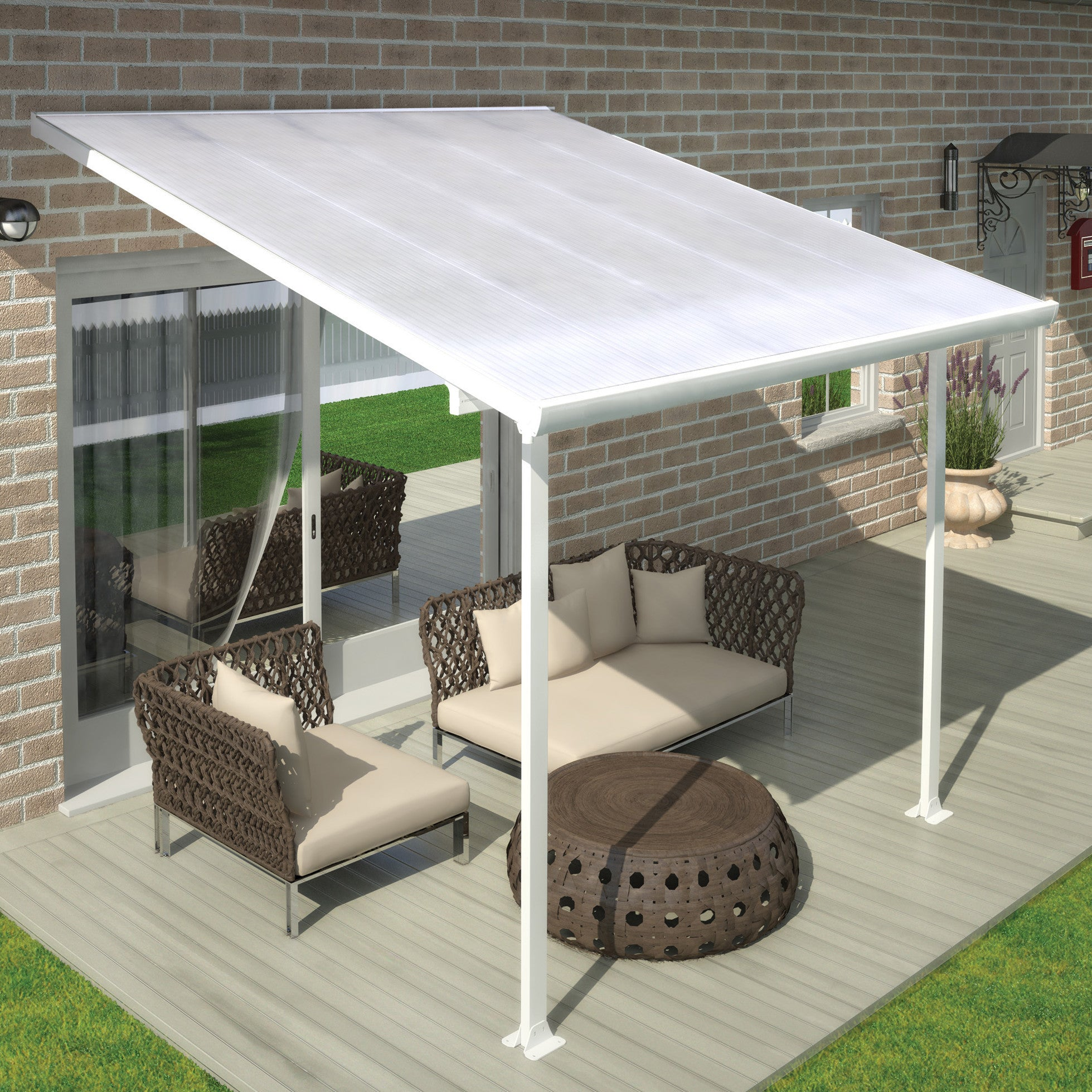 ... Palram Feria™ Patio Cover Awning   Awning   Shop Patios ...