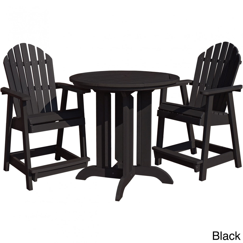Highwood USA Eco-friendly Hamilton 3-piece Round Counter Dining Set - Dining Set - Shop Patios