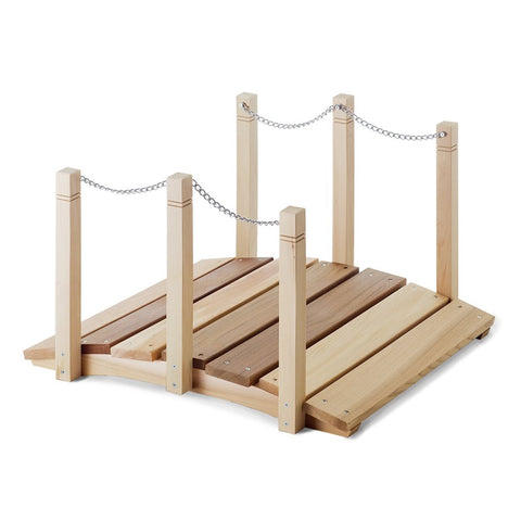 2ft All Things Cedar Garden Gnome Bridge - Garden Bridge - Shop Patios