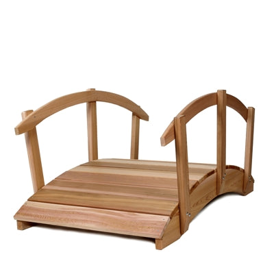 3ft All Things Cedar Garden Bridge with Rails