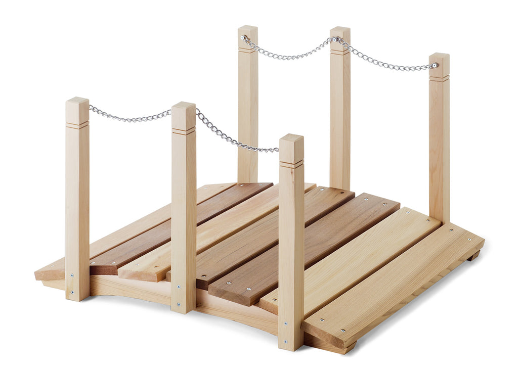 3 Ft. Cedar Plank Bridge With Rails