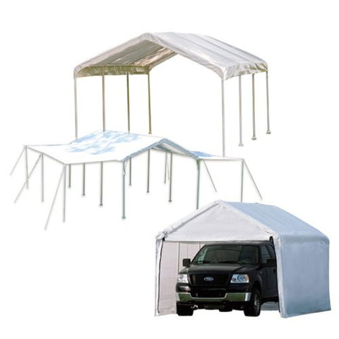 ShelterLogic Max AP Canopy 3-in-1, Enclosure & Extension Kits, White Cover 10 x 20 - Canopy - Shop Patios