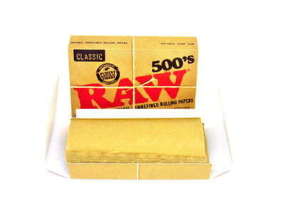 Raw Natural 500 Regular Rolling Papers 1 1/4 Size
