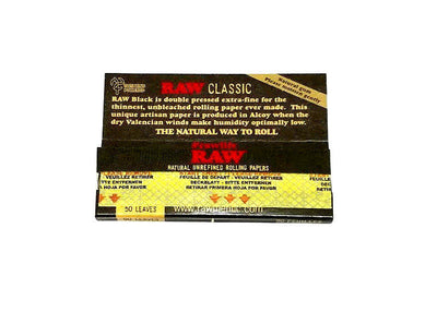 Raw Classic Black 1 1/4 Rolling Papers
