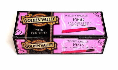 Golden Valley Pink Edition King Size Cigarette Tubes