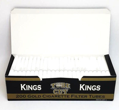 Gambler Tube Cut King Gold Cigarette Filter Tubes